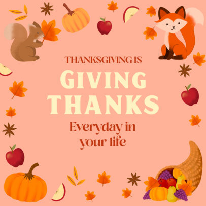 Instagram Post Design Creator With a Thanksgiving Theme 4127a