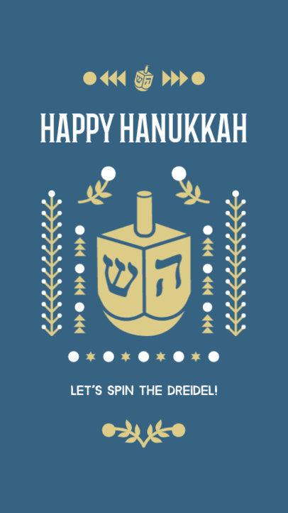 Instagram Story Generator for Hanukkah with a Dreidel Graphic 4141b