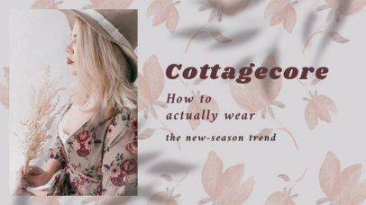 Trendy YouTube Thumbnail Creator for Tips on Wearing Cottagecore-Style Clothing 4098b