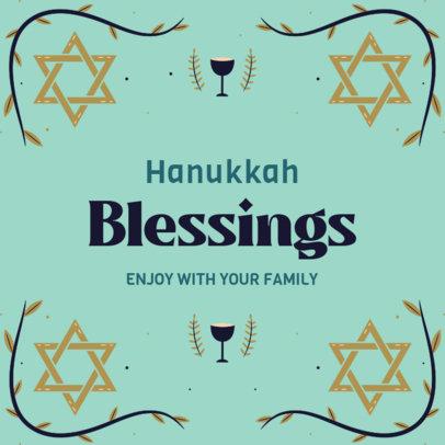 Instagram Post Creator for Hanukkah Featuring Illustrated Frames 4032c