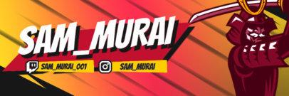 Twitter Header Design Maker Featuring a Samurai Graphic 4501b-el1