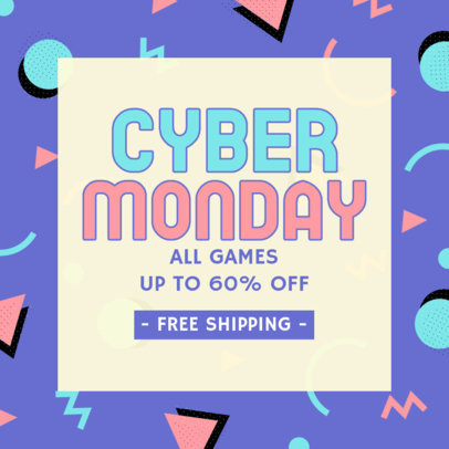 Fun Instagram Post Maker for a Cyber Monday Gaming Sale 4148b