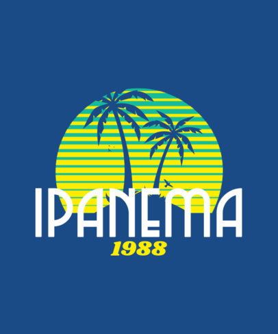 Retro T-Shirt Design Maker to Enjoy Summer in Ipanema 3042j-4154