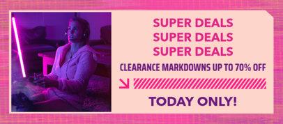 Facebook Cover Design Template for a Cyber Monday Super Sale 4149e