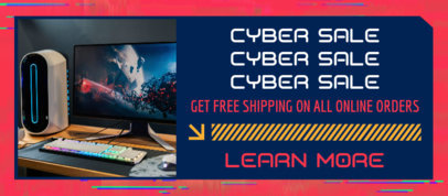 Facebook Cover Template to Announce a Cyber Monday Special Promo 4149a