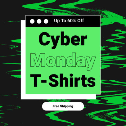 Cyber Monday-Themed Instagram Post Template for a POD Business 4147a