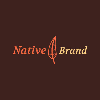 Organic Products Logo Generator With a Feather Icon 4715e
