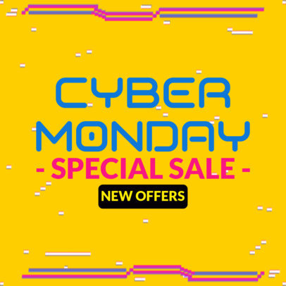 Ad Banner Creator for a Cyber Monday Special Sale 4144c