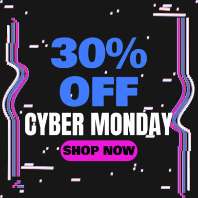 Ad Banner Template for a Cyber Monday Special Discount 4144f