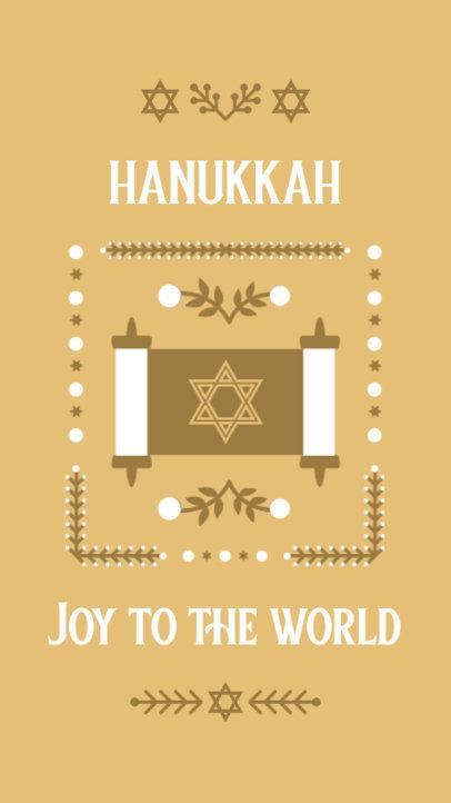 Instagram Story Maker Featuring a Torah Graphic for Hanukkah 4141d