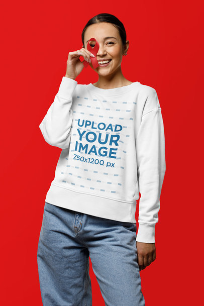 Awareness-Themed Mockup Featuring a Woman Wearing a Sweatshirt m17193