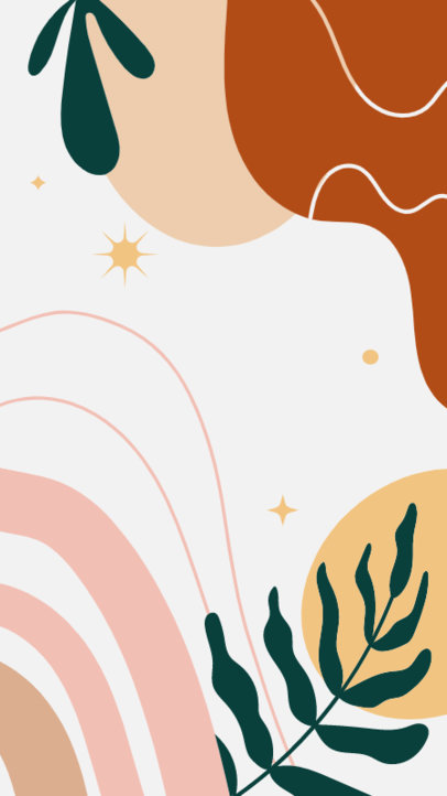Instagram Story Highlight Cover Generator with a Boho Abstract Background 4162c