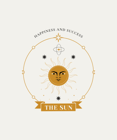 Tarot-Themed T-Shirt Design Creator with a Graphic of the Sun 4520b-el1