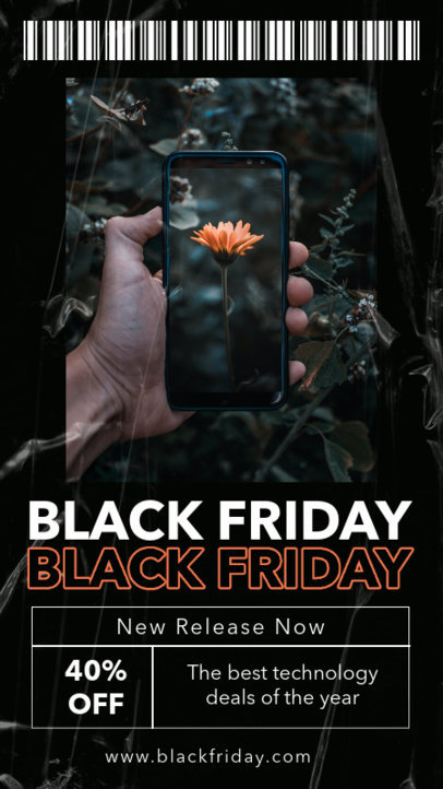 Instagram Story Template for Tech Stores' Black Friday Sales 4536-el1