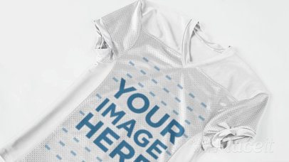 Custom Football Jersey - Video of a Jersey Lying on a White Floor a16821
