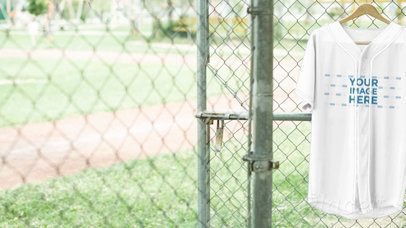 Baseball Uniform Builder - Jersey Video on a Hanger at the Field a16930