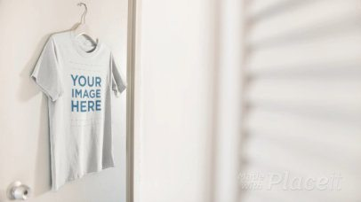 T-Shirt Hanging on a Door Video a13091