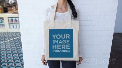 Beautiful Girl Playing With a Tote Bag in Stop Motion a13640