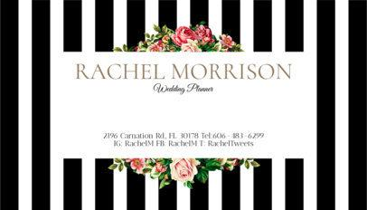 Event Planner Business Card Template a93