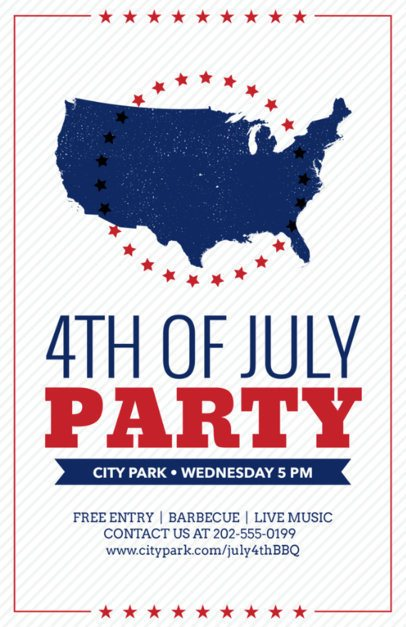 Flyer Template for 4th of July Celebration a153