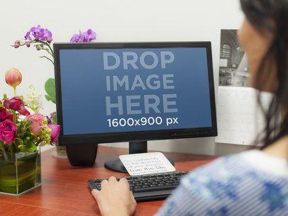 Desktop With Flowers