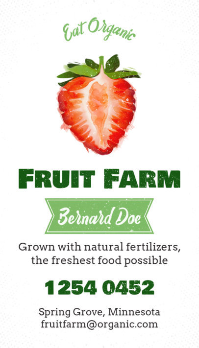 Organic Food Business Card Maker With Fruit Graphics 199