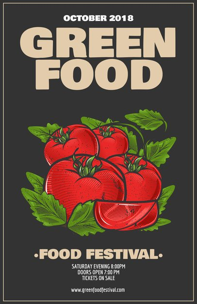 Food Festival Flyer Template a163