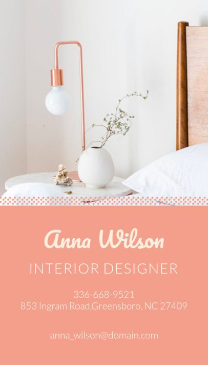 Vertical Interior Design Business Card Maker a327