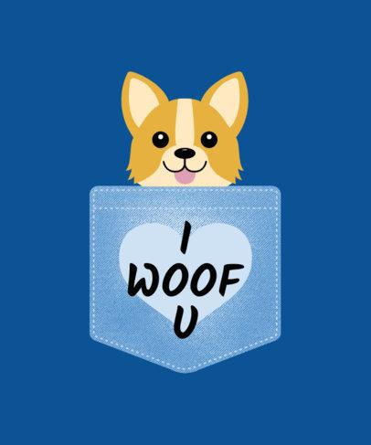 Cute Dog in Pocket T-Shirt Design Templates 31b