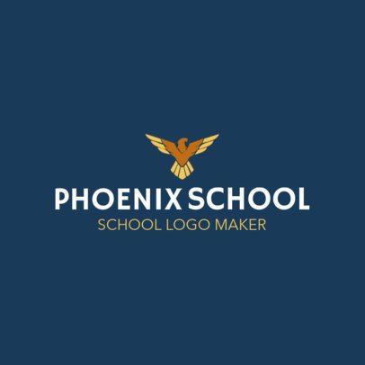 School Logo Maker with Phoenix Icon 1087d