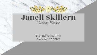 Business Card Template for Wedding Planners 93a