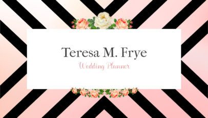Business Card Template for Wedding Planners with Colorful Stripes 93c
