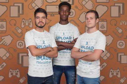 Esports T-Shirt Mockup Featuring a Small Esports Team a21095