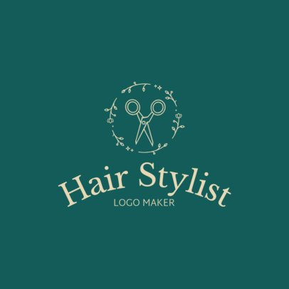 Logo Maker with Rounded Text for Hairdressers 1153b