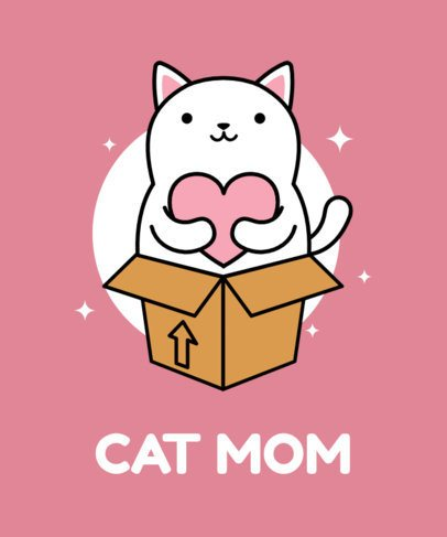 Cat Mom T-Shirt Design Maker 24e