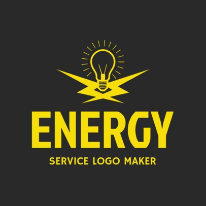 Electrician Services Logo Maker with Electrical Icons 1183c
