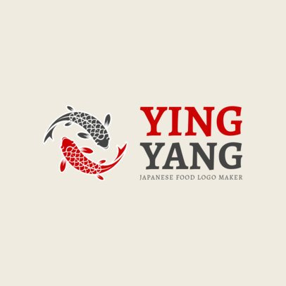 Online Logo Maker with Koi Fish Art 1215c