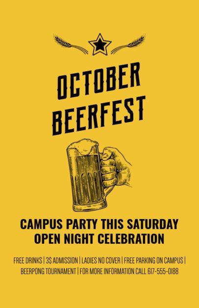 Online Flyer Maker for Oktoberfest Parties 94a