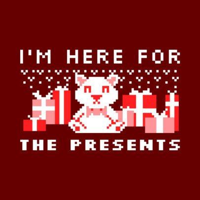 Ugly Christmas Sweater T-Shirt Design Maker 652a