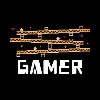 Gamer Ugly Xmas Sweater T-Shirt Design Maker 652g