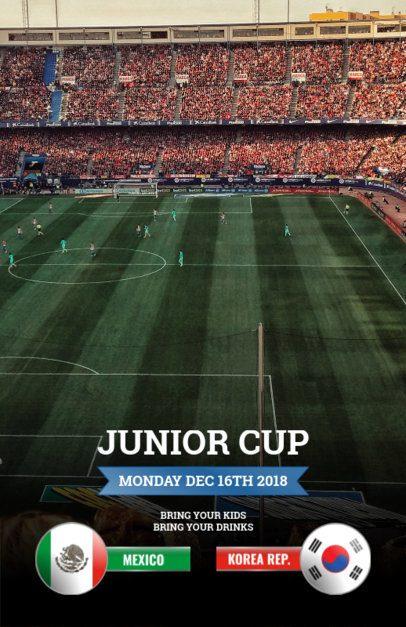 Flyer Maker for Soccer Events 165c
