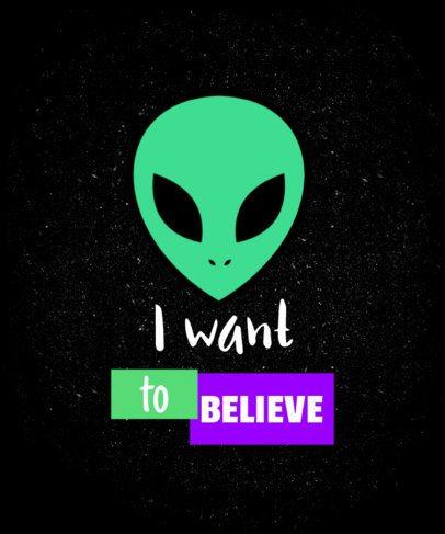 Retro Alien T-Shirt Design Maker 6b