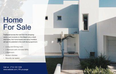 Online Flyer Maker for Real Estate Agencies with Transparent Banner a345