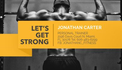 Business Card Template for Personal Trainers a351