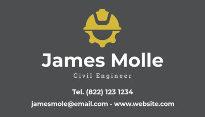 Business Card Template for Civil Engineers a346