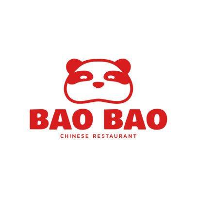 Chinese Restaurant Logo Maker with Panda Icon 1214b