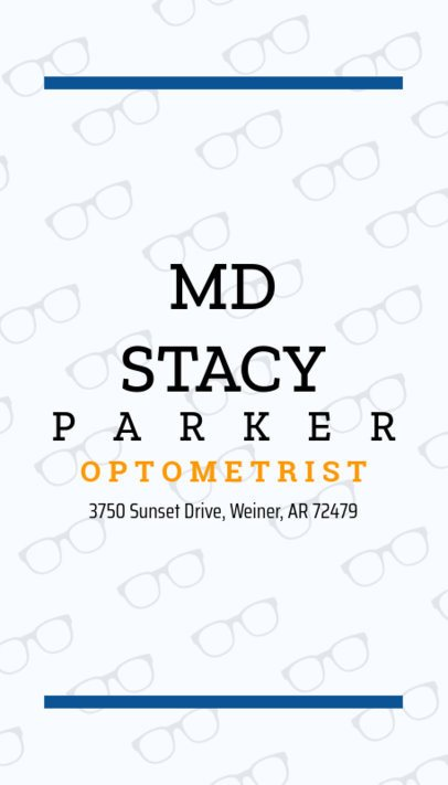 Business Card Maker for Eye Doctors 172e