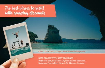 Horizontal Flyer Maker for Travel Agencies a337