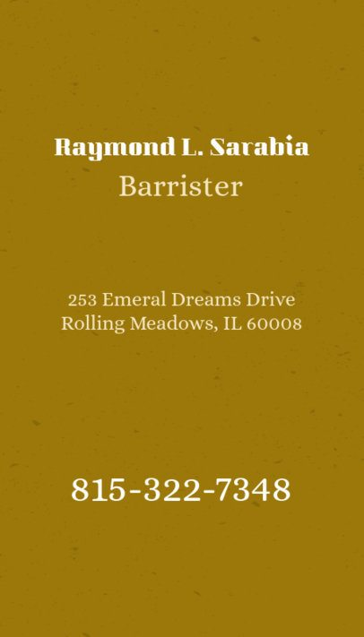 Business Card Maker for Law Offices with Vertical Layout 69e