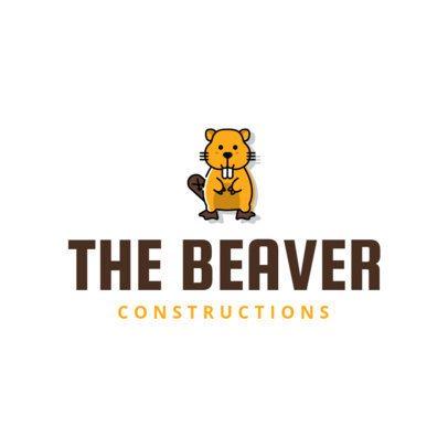 Construction Company Logo Maker with Beaver Icon 1175d